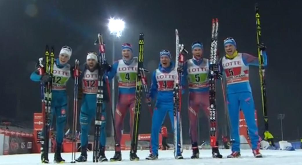 Никита Крюков - бронзовый призер командного спринта на этапе Кубка мира